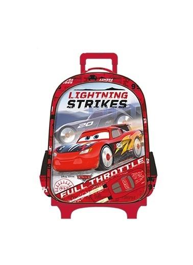 Cars Rocket Racing Çekçekli İlkokul Çantası 5085 Renkli